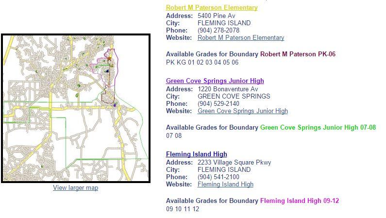 Pace Island School Zones