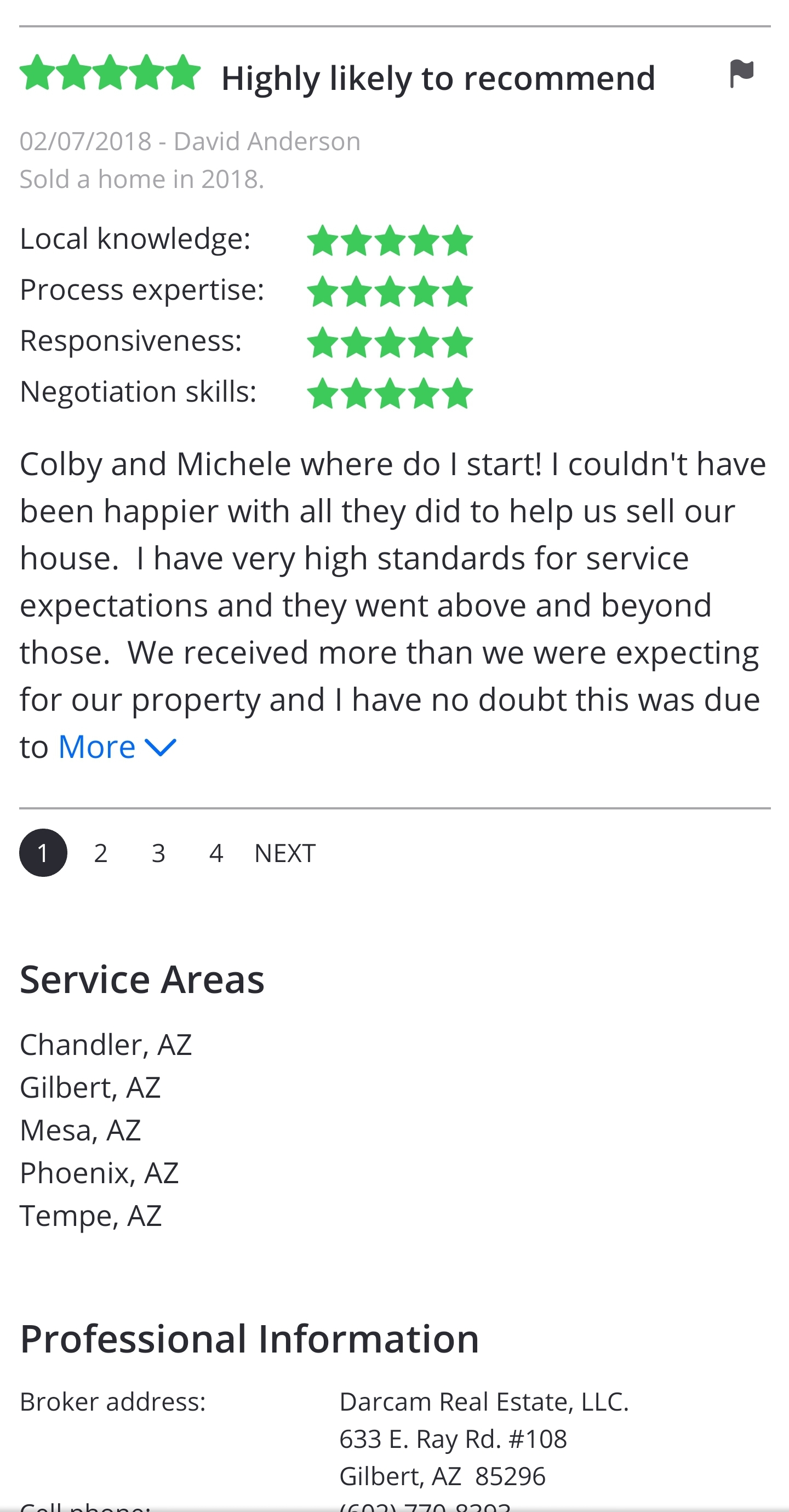 Colby & Michele Client Reviews 3