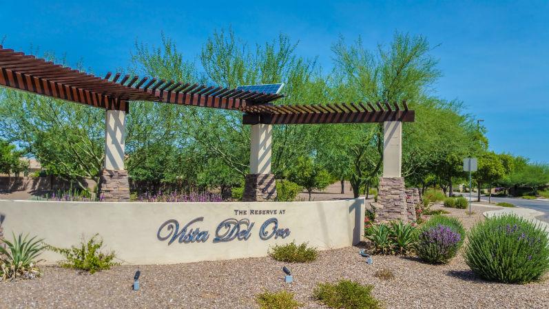 Vista Del Oro Community Sign