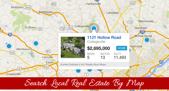 Search Pennsylvania Real Estate by Map