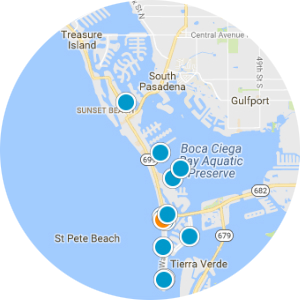 Tierra Verde, Isla Del Sol and the Bay Way Beach Front Condos Real Estate Map Search