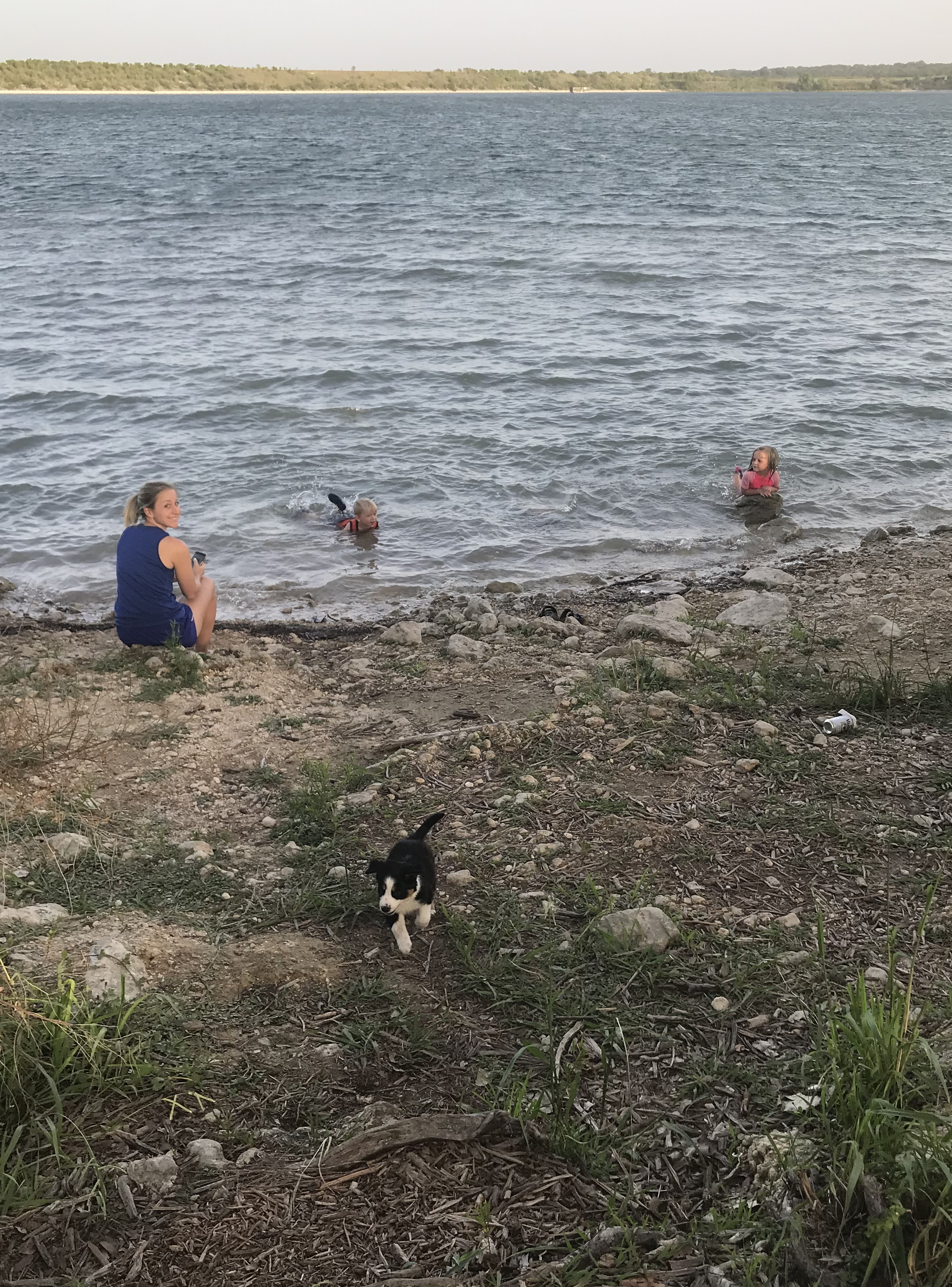 Boerne Lake Swimming with Family