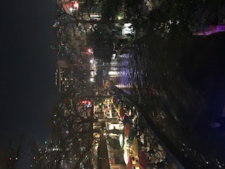 Holiday Lights on Riverwalk San Antonio Downtown