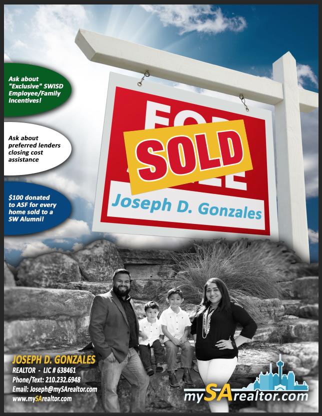 Joseph Gonzales REALTOR, San Antonio, SWISD Teachers
