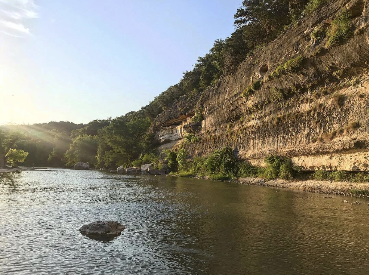 beautiful bluff to look at while sitting in the river