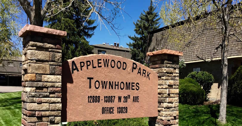 Discover gorgeous skies and a friendly community in Applewood Park Townhomes real estate.