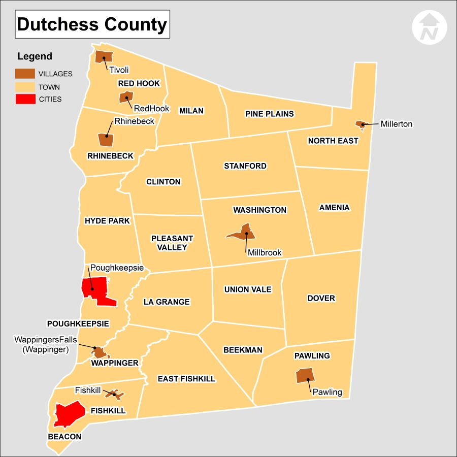 Dutchess County New York Map
