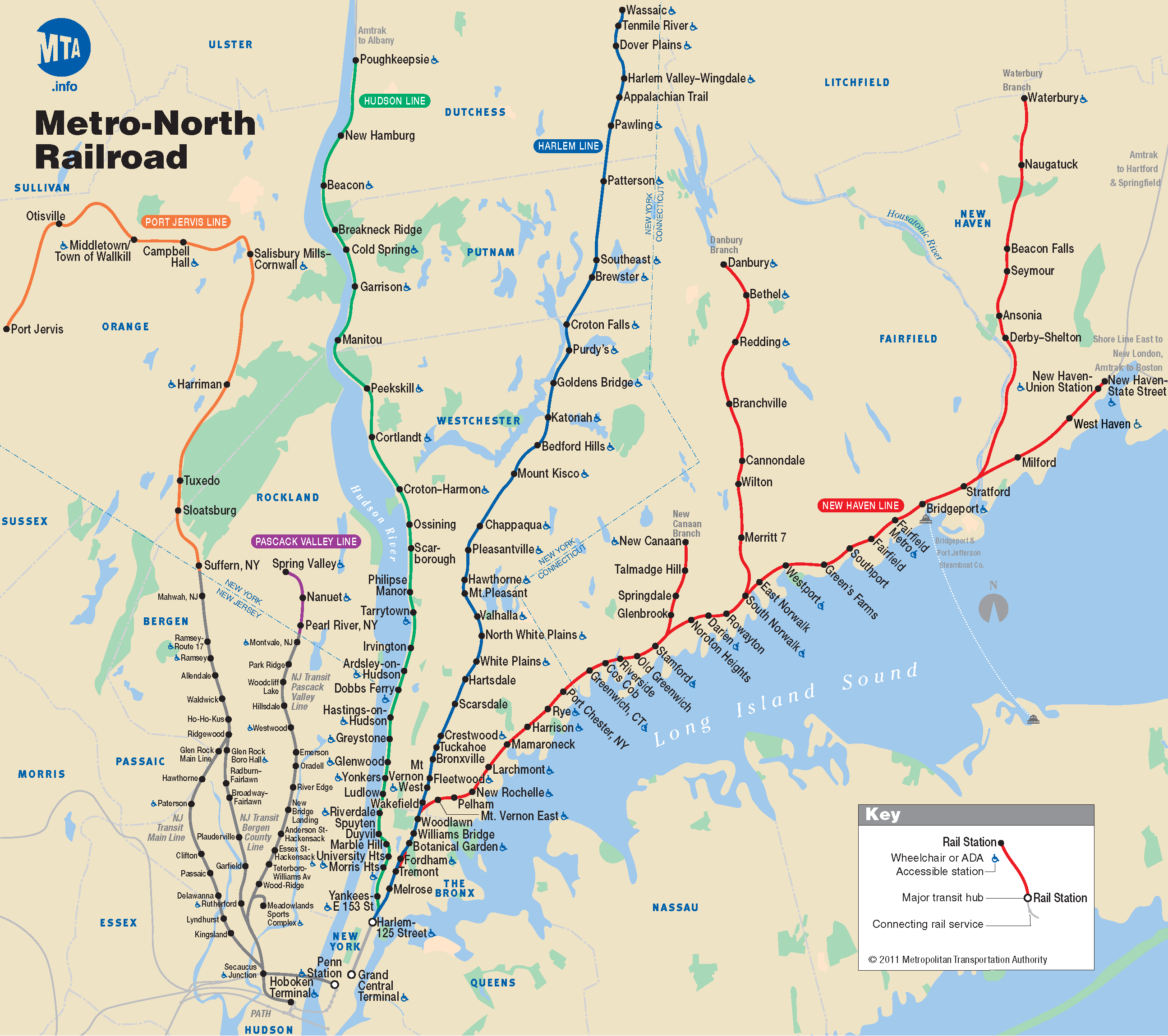 Metro North Map New York