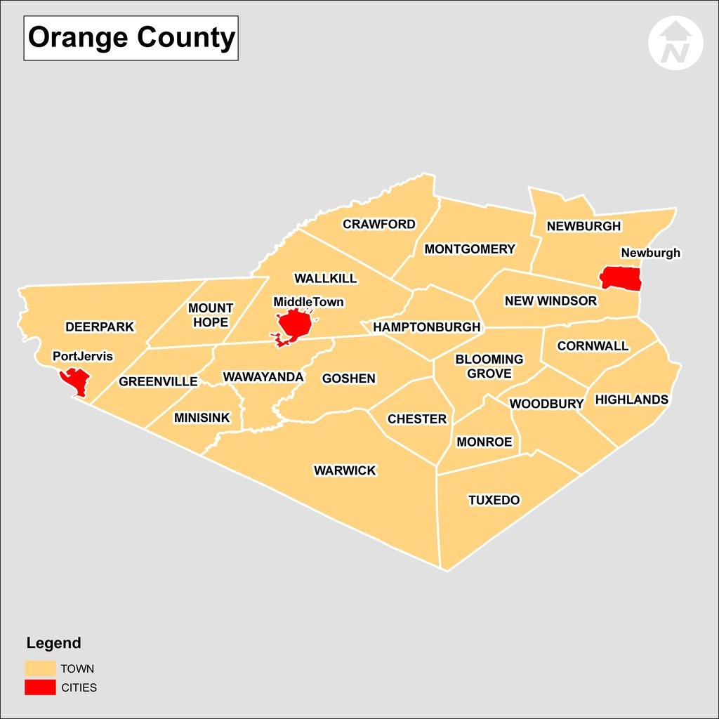 Map Of Orange County Ny Orange County NY Real Estate and Homes for Sale | Real Estate