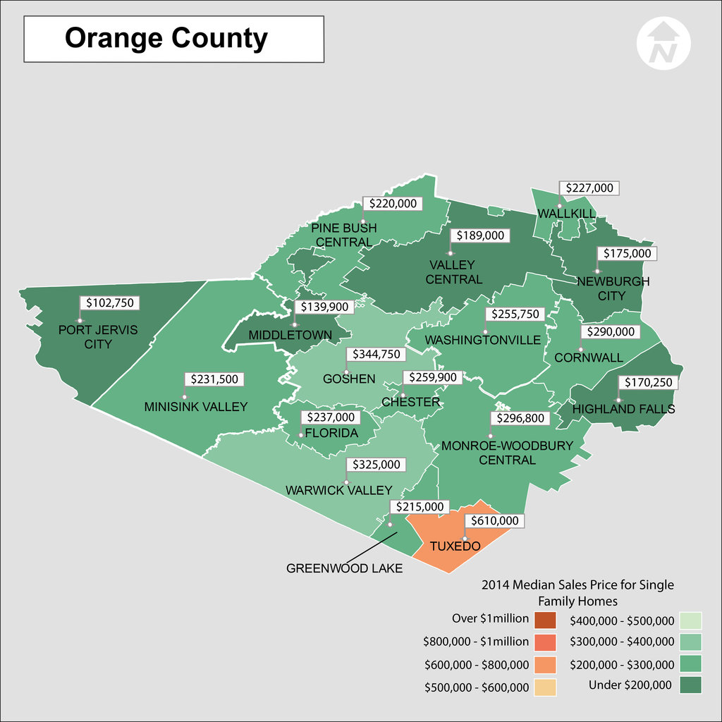 Orange County New York Map Real Estate Prices