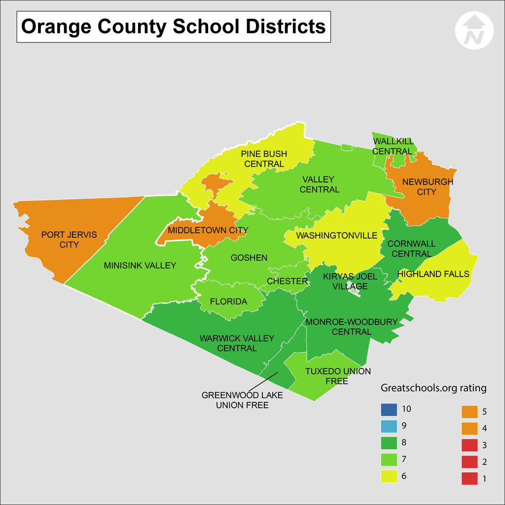 Orange County NY School Districts School Information And - Florida map districts