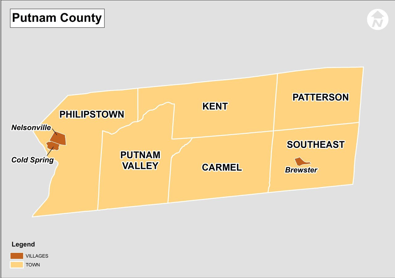 Image result for putnam county ny map