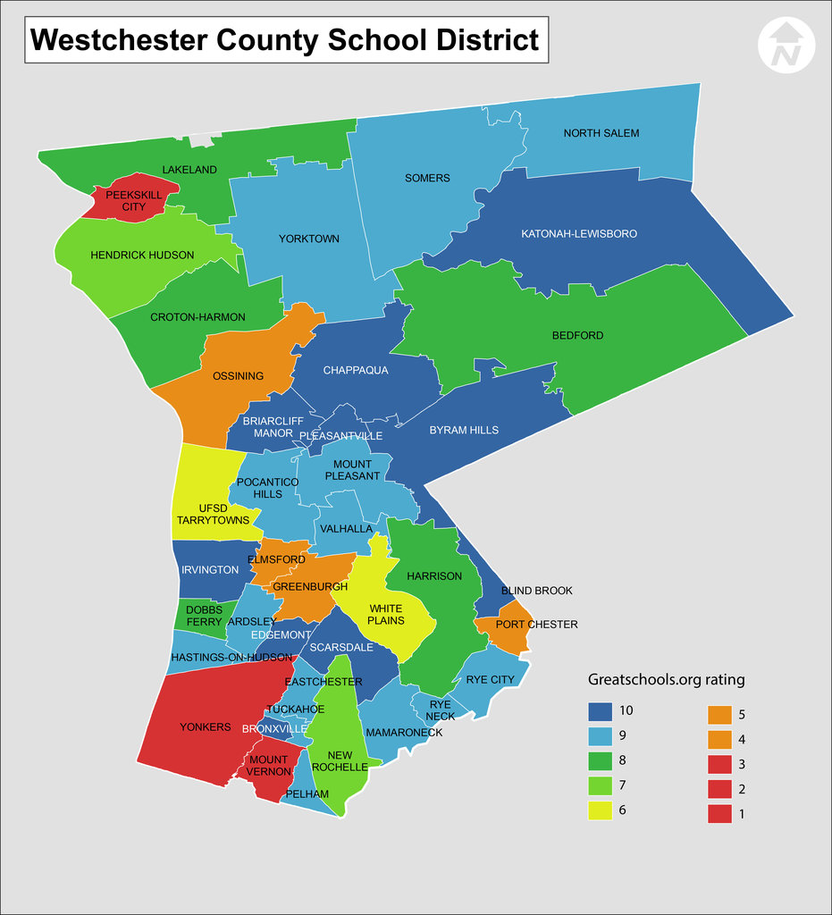 Westchester County School District Map New York