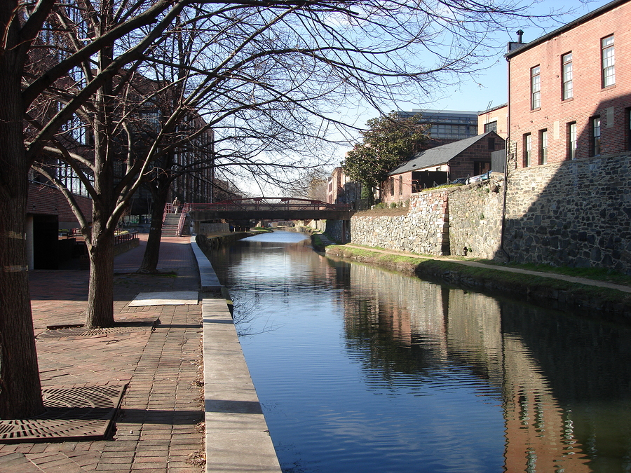Explore Georgetown DC real estate at the C & O Canal.