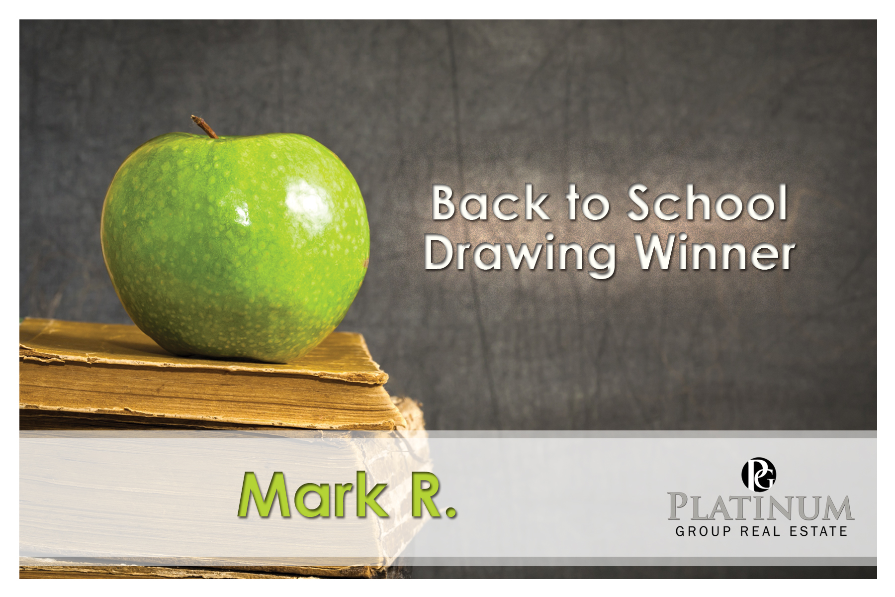 Back to School Drawing Winner