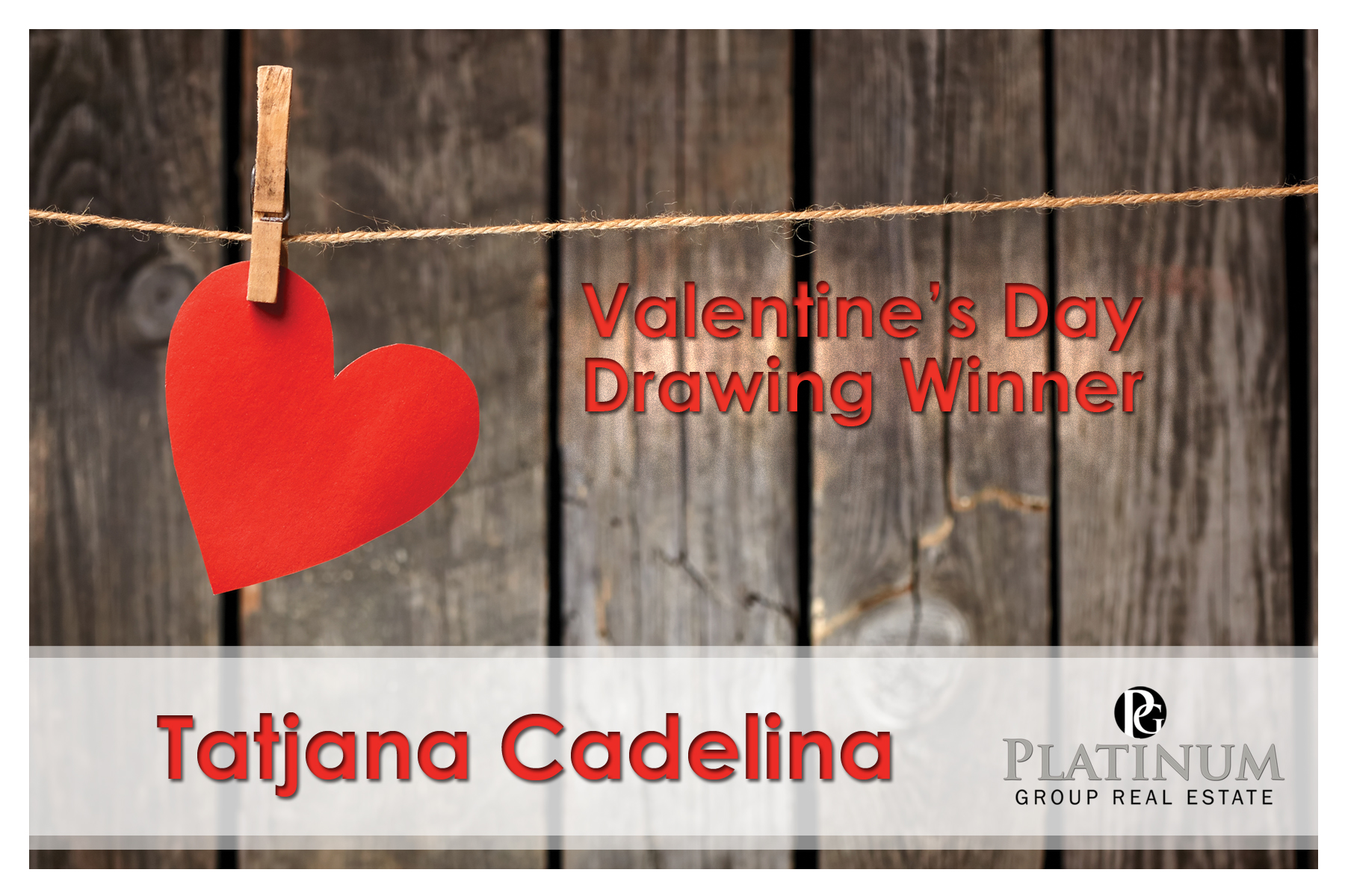 February Drawing Winner
