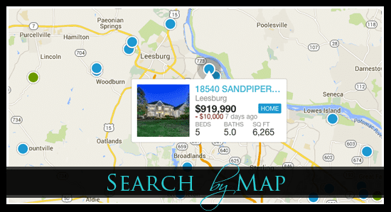 Search Northern Virginia Homes By Map