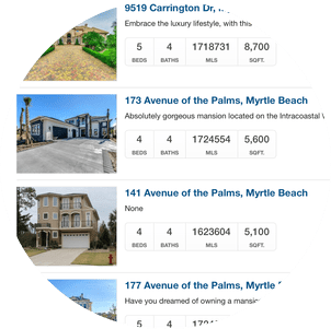 Plantation Lakes Carolina Forest Home Search - List View