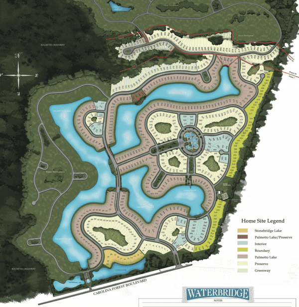Waterbridge Myrtle Beach Site Map