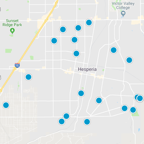 Hesperia Smart Map Search