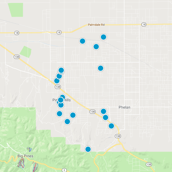 Pinon Hills Smart Map Search