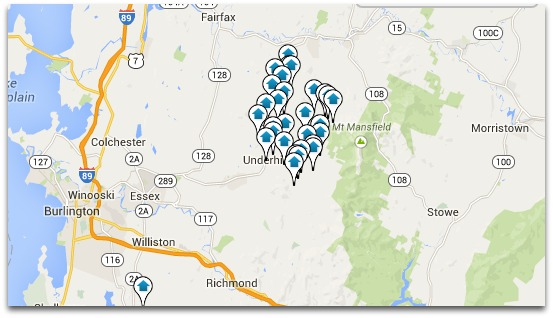 Underhill Map Search