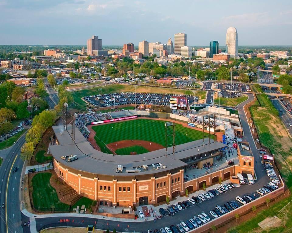 Winston-Salem BB&T Dash Stadium and Skyline