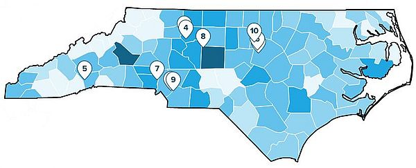 NC Top 10 Healthiest Real Estate Markets