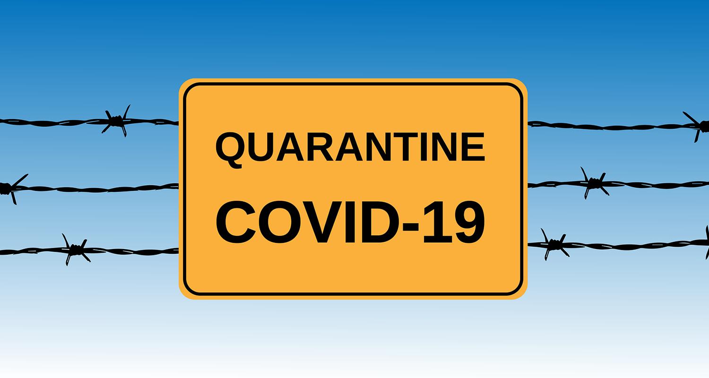 Quarantine Caution Sign - Covid-19