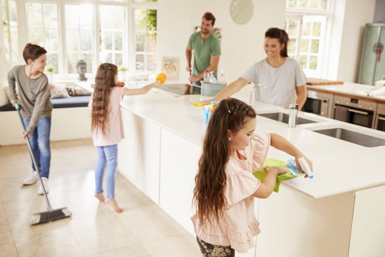 disinfect clean and sanitize your kitchen