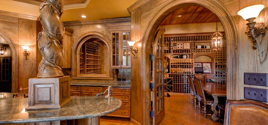 clemmons nc luxury home wine cellar