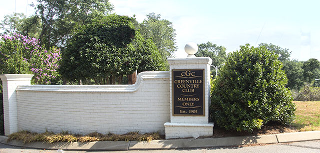 Entrance to Greenville Country Club