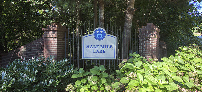 Entrance to Half Mile Lake community in Greenville SC