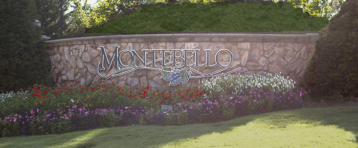 Entrance to Montebello in Greenville SC
