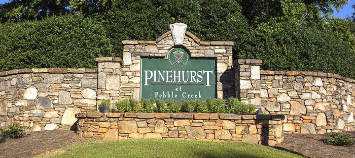 Entrance of Pinehurst at Pebble Creek- Greenville