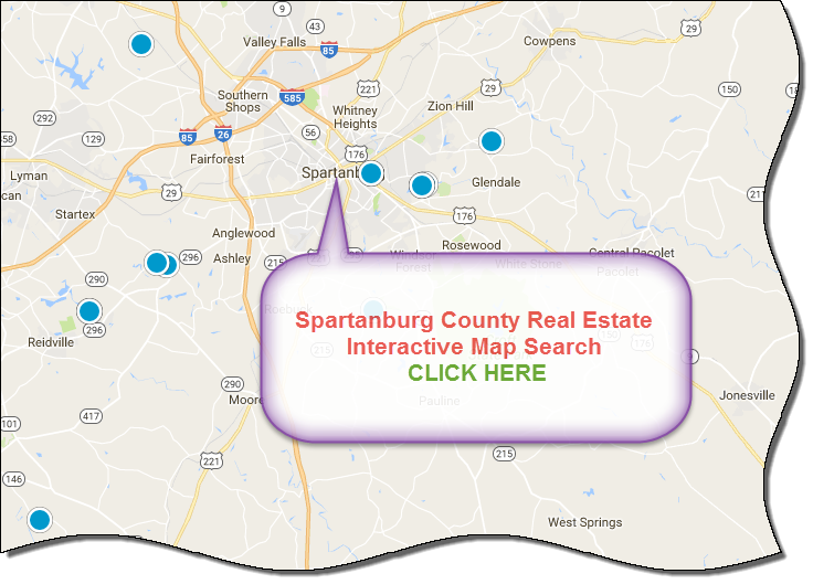 Spartanburg County SC Real Estate Listings And Homes For Sale - Spartanburg county south carolina on us map