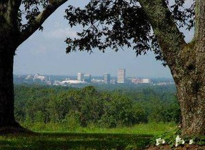 Downtown Greenville View from paris Mountain