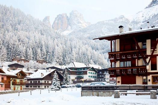 a skiing area