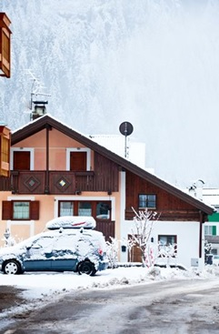 a skiing guest house