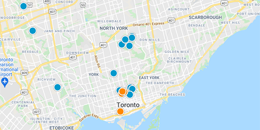 Greater Toronto Real Estate Map Search