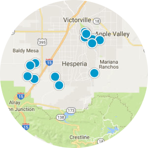 Hesperia / Oak Hills Real Estate Map Search