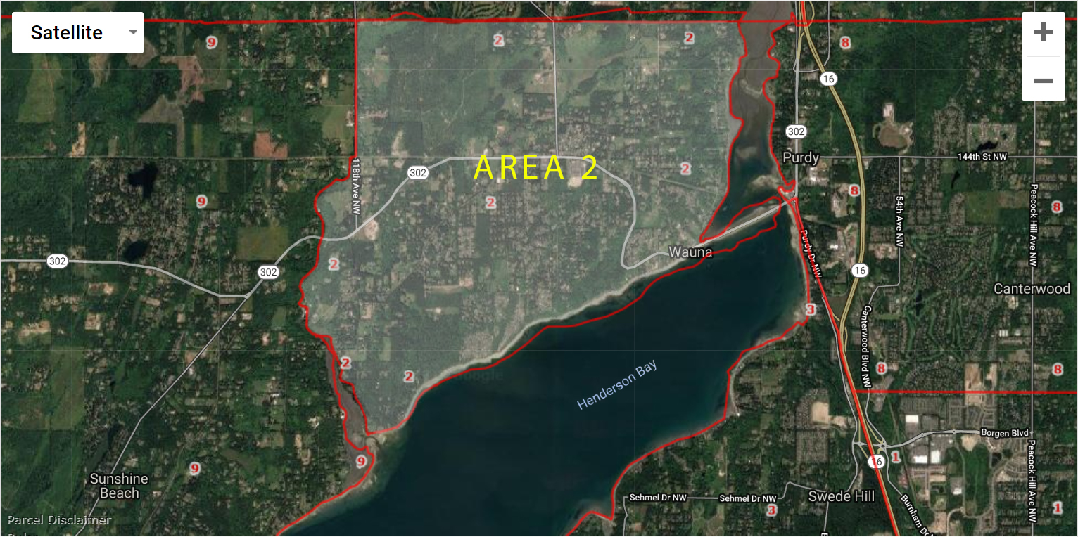 Gig Harbor WA Real Estate Area 2 Purdy Map