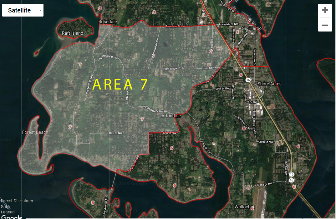Gig Harbor Real Estate Artondale Area 7 Market Map