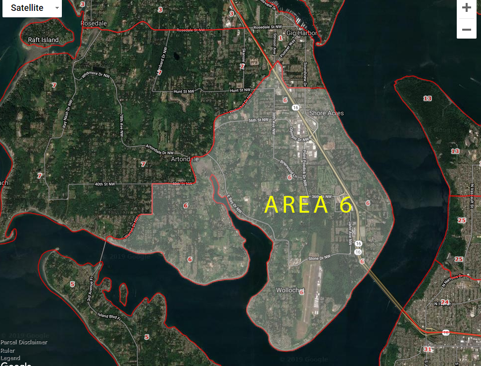 Gig Harbor WA Real Estate Area 6 Market Map