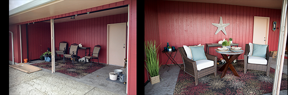 Staging before and after - patio
