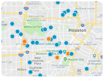 Houston Area Real Estate Map Search