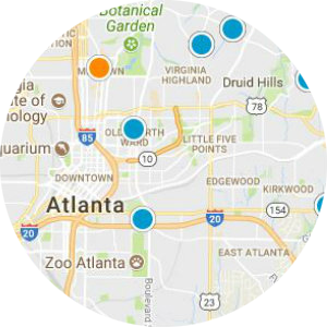 Midtown Atlanta Real Estate Map Search