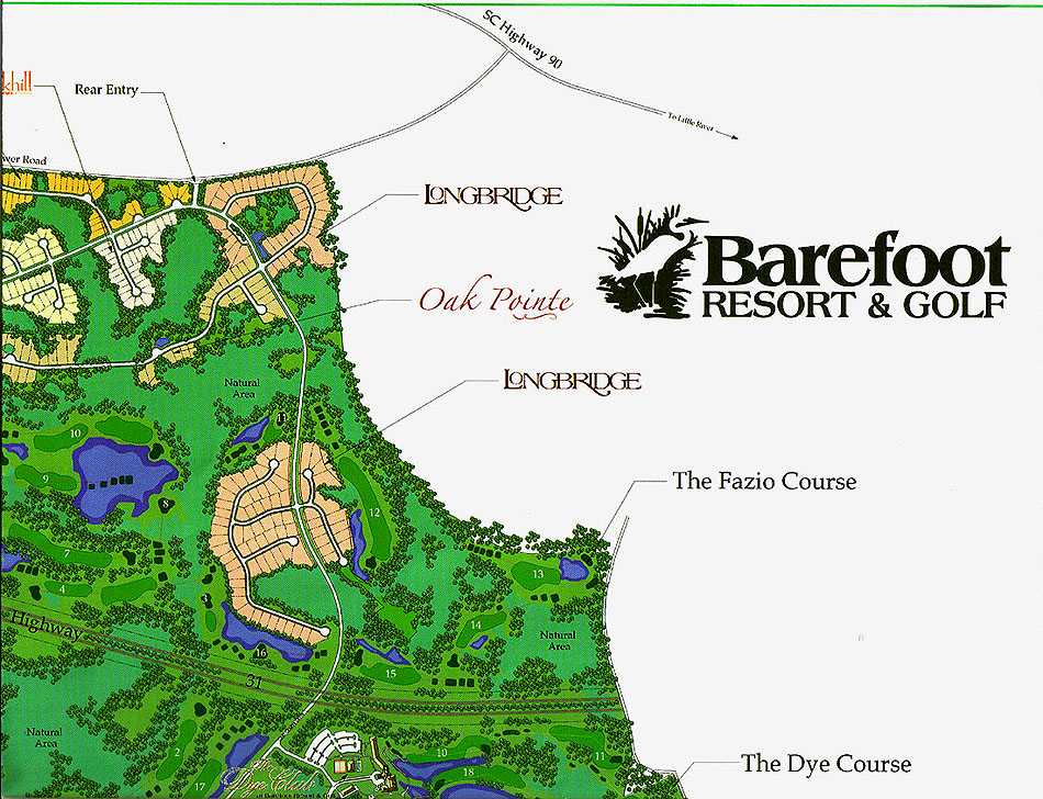 Barefoot Resort Map Section 2