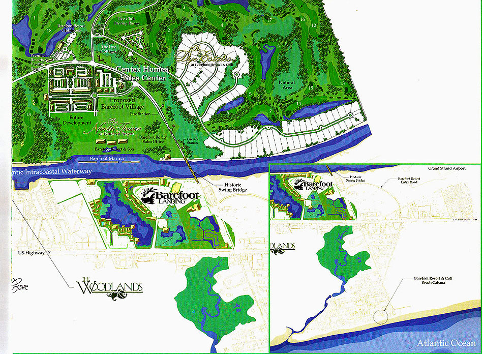 Barefoot Resort Map Section 4