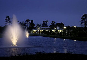Lighted Fountains at Brighton Lakes
